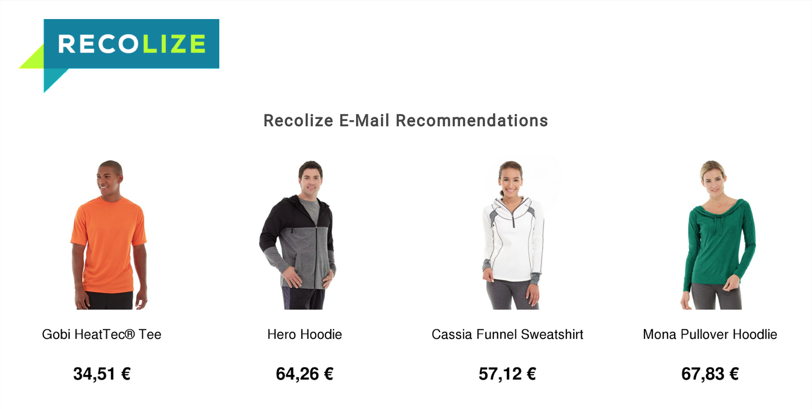 E-Mail Recommendations Design Beispiel