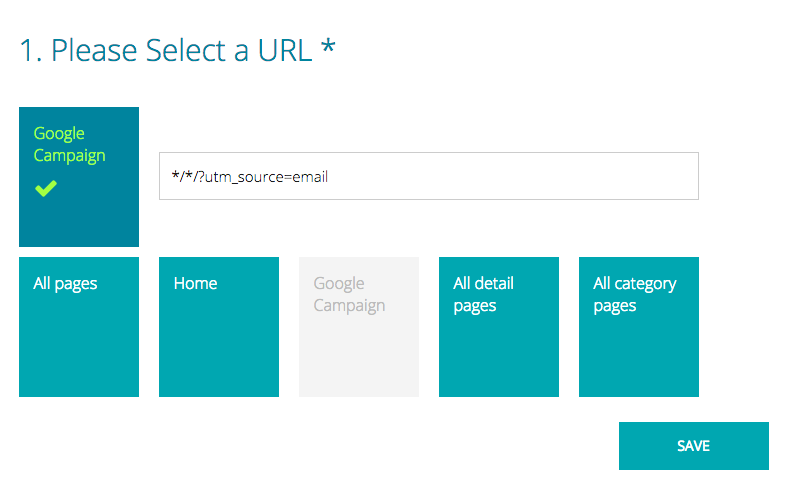 Email Recommendations Google UTM Source Filter