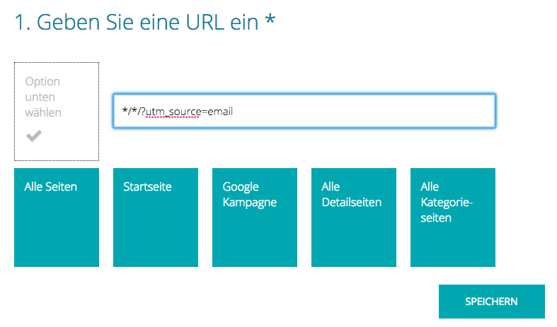 E-Mail Recommendations Google UTM Source Filter