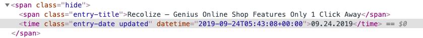 HTML time Tag Quelltext