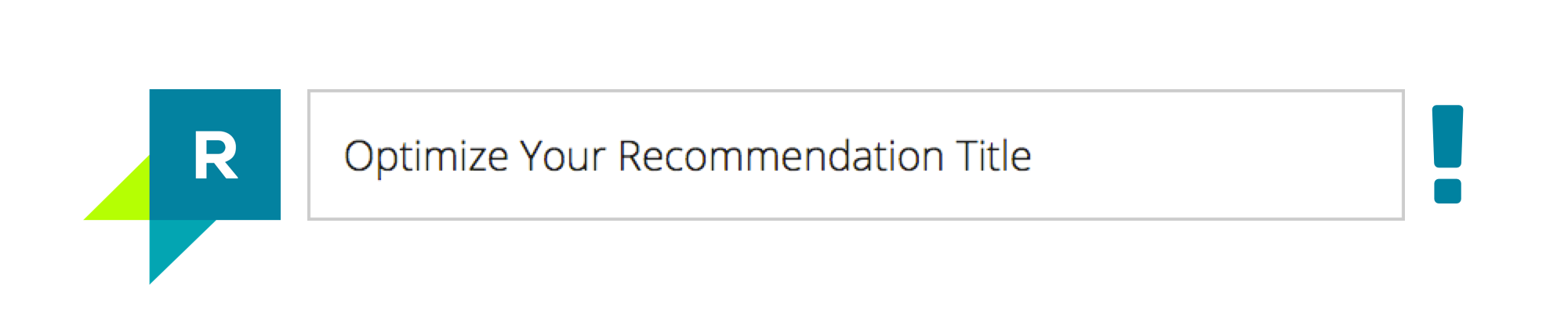 How To Optimize Your Recommendation Title?