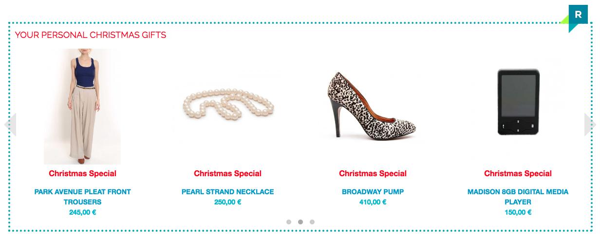 6 Beispiele zu Online-Personalisierung für Weihnachten