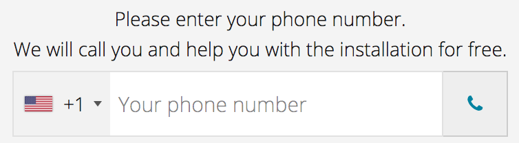 Phone Number Input